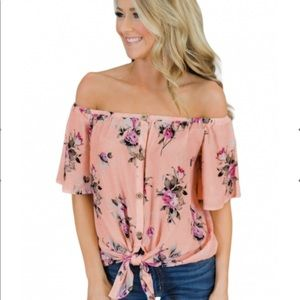 SMALL Floral Off the Shoulder Top
